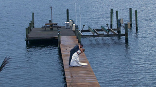 Bride and Groom on Chesapeake Bay