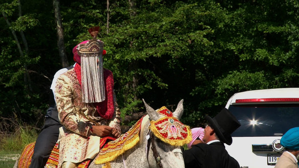 Groom on Horse at Baraat