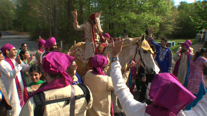 Baraat with Groom on Horse