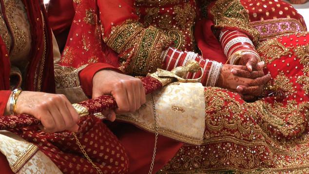 Sikh Groom Sword and Bride Choora