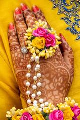 Lovely Floral Haldi Mehandi