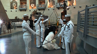 Bride and Groom Military Wedding