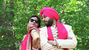 Sikh Bride and Groom in Pink