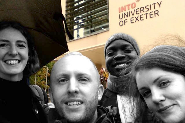 Rivka, Jake, Robins and Elizabeth from our network, at the University of Exeter