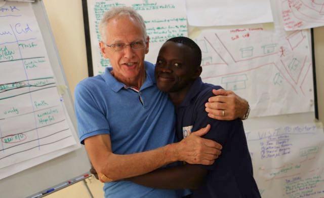 Ian on a visit to Sierra Leone