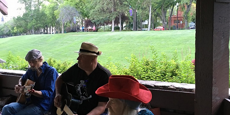 Heart Song Sing & Play Alongs with Brian Paul D.G. and Friends at outdoor gazeebo in Saskatoon!
