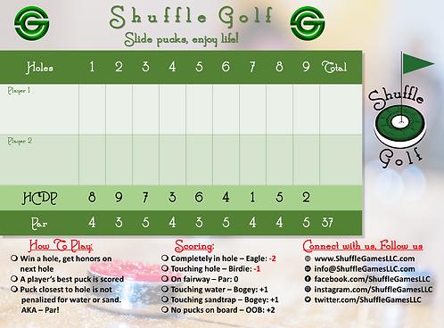 ShuffleGolf Dry Erase Scoreboard