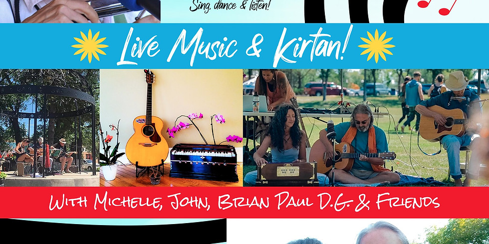 Live Music & Kirtan on Broadway in Saskatoon with Michelle, John, Brian Paul D.G. and Friends!