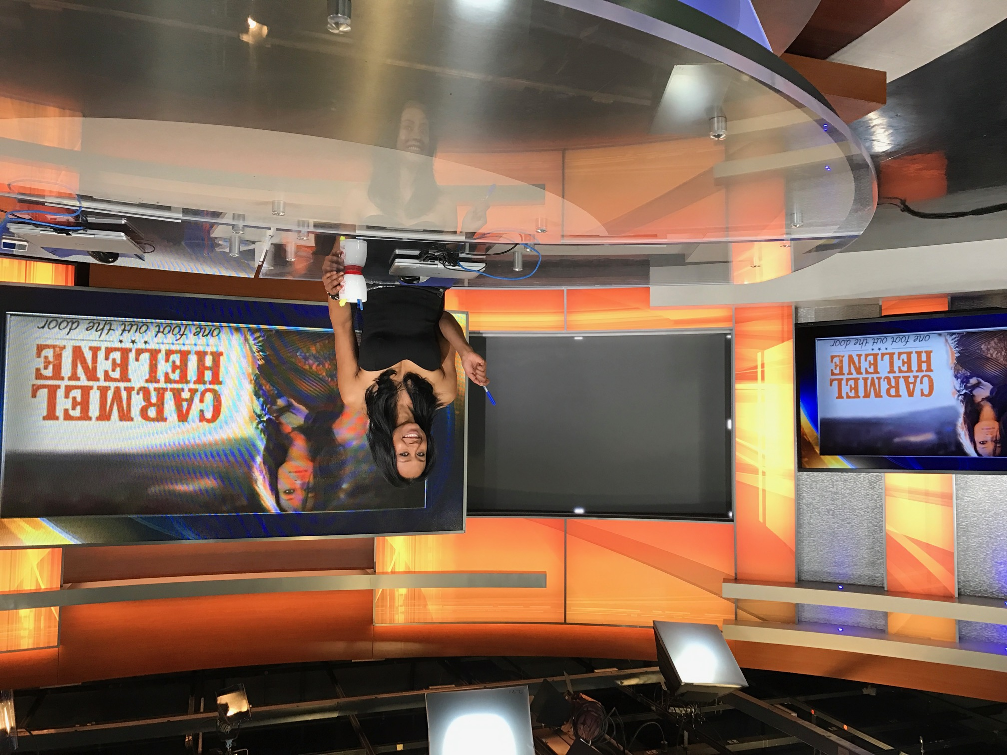 At the anchor desk