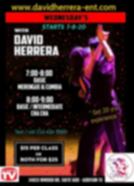 wednesdays 2020 cumbia , merengue and ch