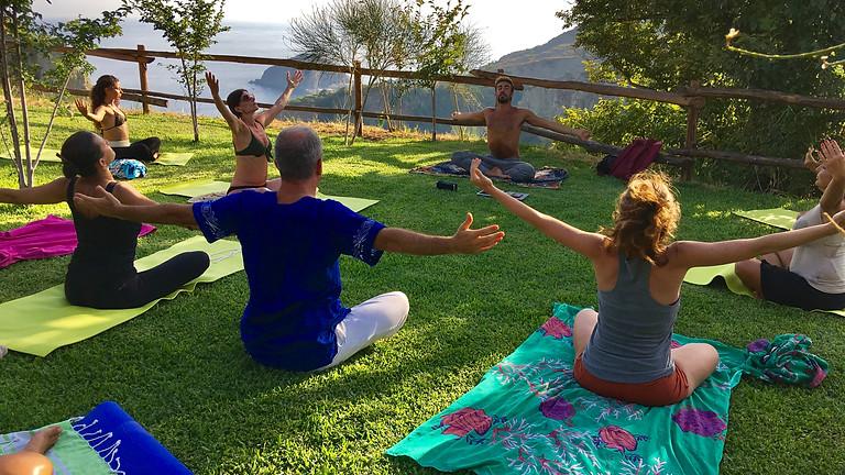 Yoga alla Fonte delle Ninfe di Nitrodi, Ischia - Estate 2018