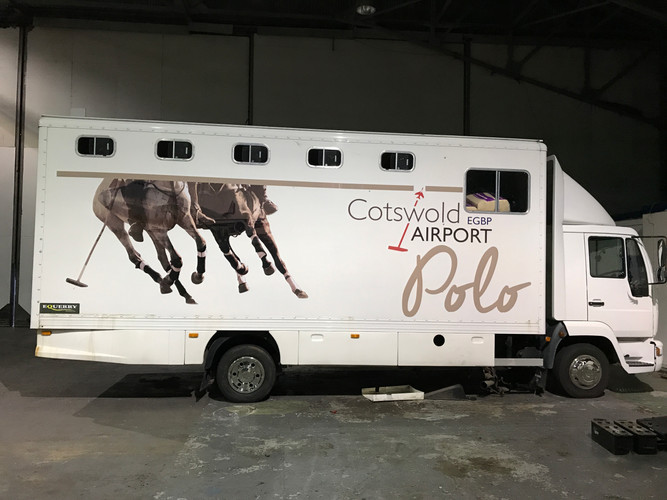Cotswold Airport Polo sponsorship vehicle graphics