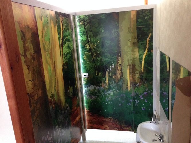 School toilets wall graphics
