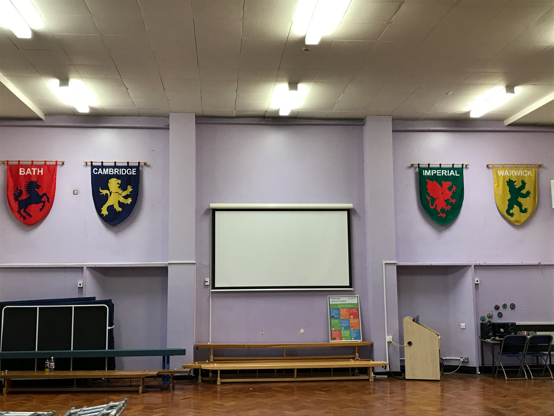 Swindon Academy Internal signs - flags