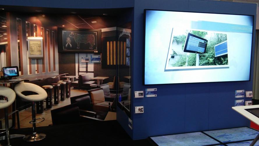 GDS business display wall graphics