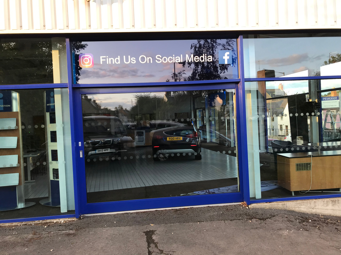 Faringdon Garage external window film graphics