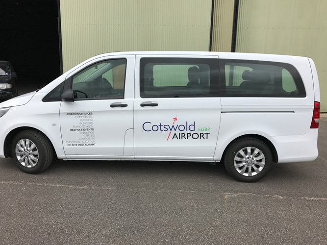Cotswold Airport vehicle graphics