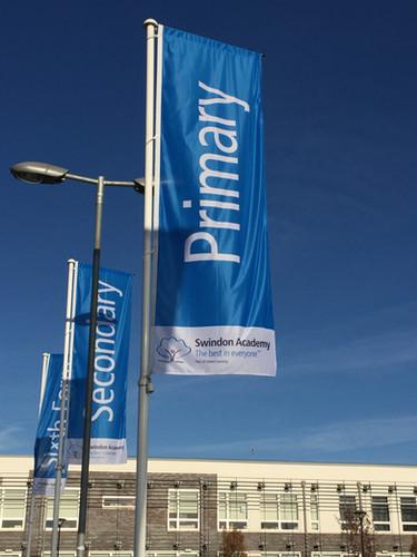 Swindon Academy signs - External flags