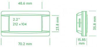 Размеры электронного ценника G1 retail 2.2 red NFC