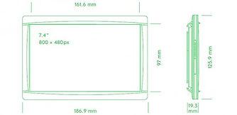 Размеры электронного ценника G1 retail 4.2 red NFC