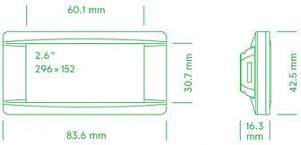 Размеры электронного ценника G1 retail 2.6 red NFC