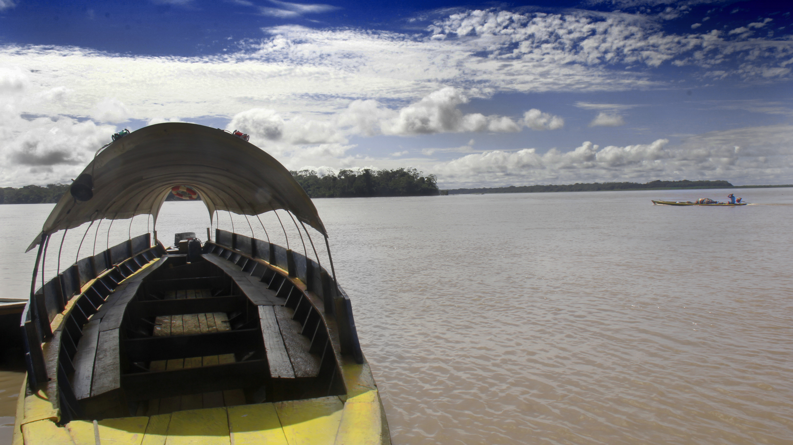 Canoa in Amazon River