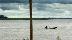 Crossing the amazon river
