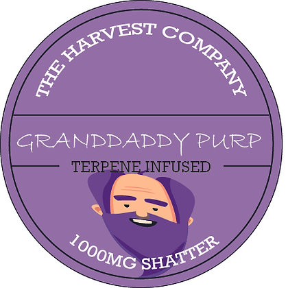 The Harvest Company Granddaddy Purp 1000mg CBD Shatter