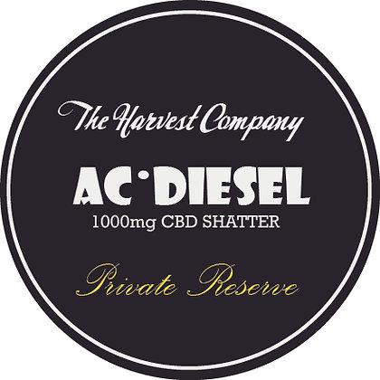 The Harvest Company AC Diesel 1000mg CBD Shatter