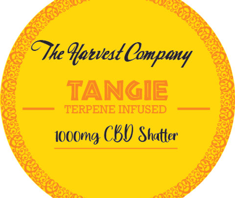 The Harvest Company Tangie 1000mg CBD Shatter