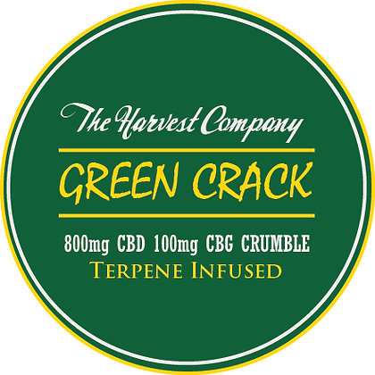 The Harvest Company Green Crack 800mg CBD Crumble