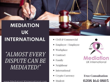 Almost every dispute can be mediated!