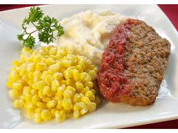 Italian Meatloaf, Mashed Potatoes & Corn