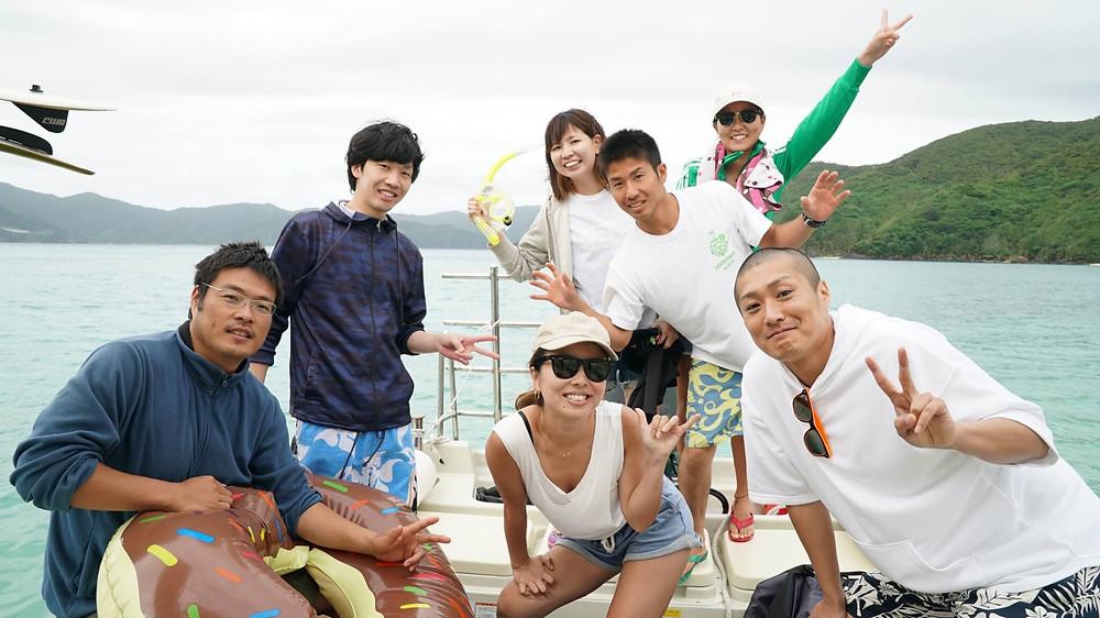 奄美大島・加計呂麻島のシュノーケリング・ダイビング・ウエイクボード・バナナボート・青の洞窟は『ダンデライオン奄美』