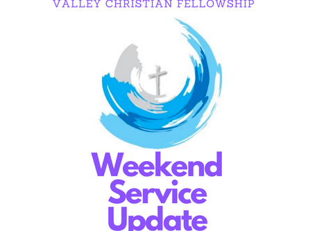 Weekend Service Update