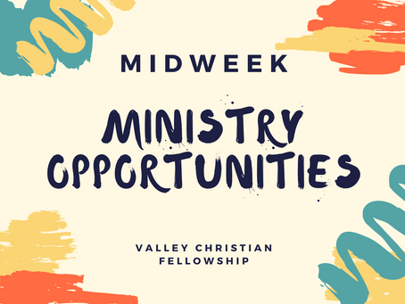 Midweek Ministry Opportunities