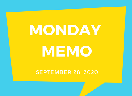Monday Memo, September 28, 2020