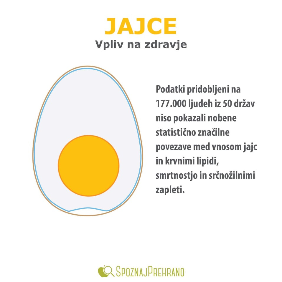 jajca holesterol, holesterol v jajcih