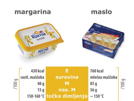 Prehranski El Clasico: margarina proti maslu