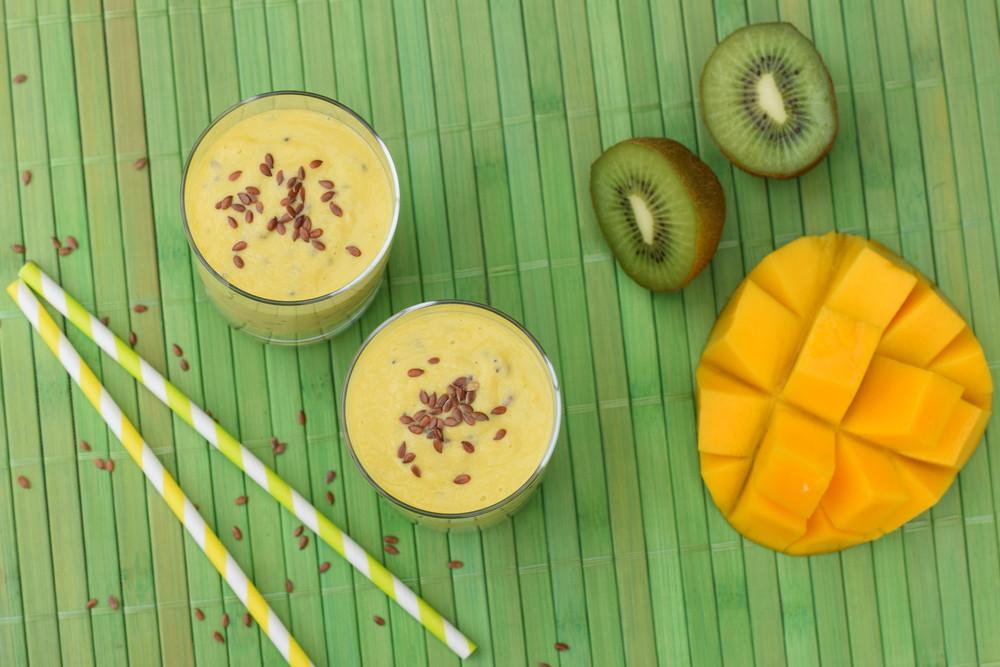 bebidas saludables de kiwi y mango