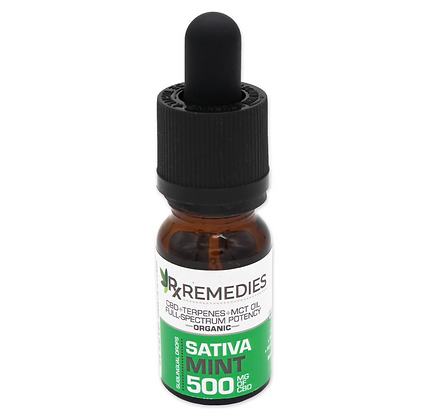 SATIVA Mint CBD Oil (Energizing) - Full Spectrum 500mg