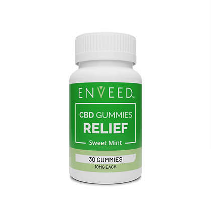 """RELIEF"" CBD Gummies - 30ct Bottle/10mg each (Sweet Mint Flavor)"