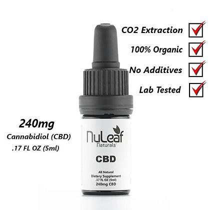 240mg Full Spectrum CBD Oil - High Grade Hemp Extract (5mL Bottle)