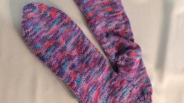 Handknitted Purple Socks