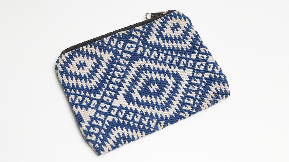Blue Geometric Pouch