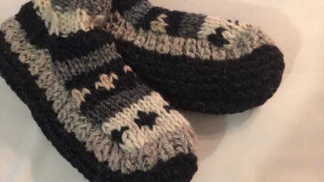 Handknitted Slipper Socks