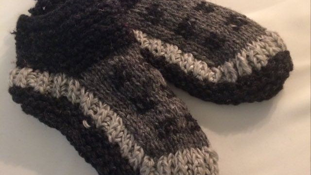 Handknitted Grey Booties