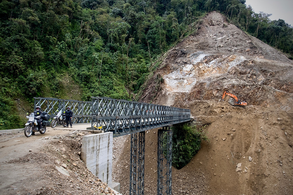 Post landslide bridge repair. Photo by Michnus Olivier.