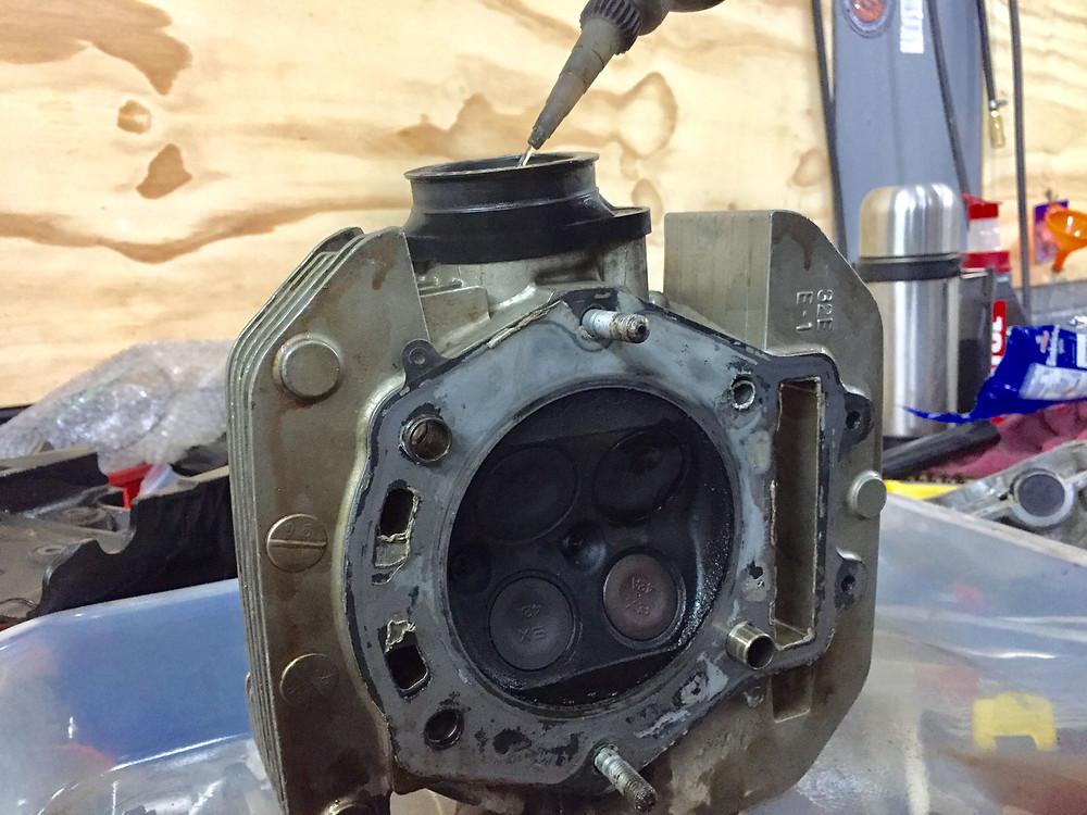 Testing the seals on the valve seats...failed miserably, at Documoto.