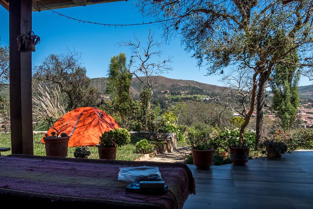 Serene camping spot in Hostal Serena Samaipata - AvVida.co.uk